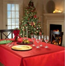 Vinyl Christmas Table Tablecloths
