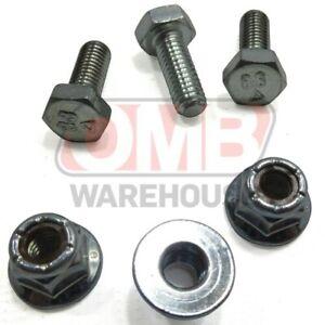 (3) Shear Pins Bolts Locking Nuts Fits Honda Hs1132 Hs928 Hs828 Hs724 Hs624