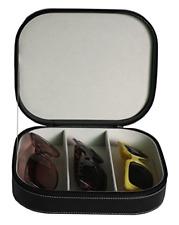 Sunglass Glasses Watch Zippered Case Stor. 3 Piece Extra Large Travel Eyeglass