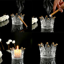 Crystal Ashtray Cigarette Crown Candlestick Tea Light Stand Candle Holder Decor