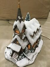 "2000 Hawthorne Village Thomas Kinkade Village Christmas ""Light of Hope Church"""