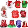 Pet Clothes Santa Christmas Gifts Dog Cat Jacket Winter Coat Shirt Puppy Apparel