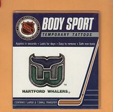 OLD LOGO HARTFORD WHALERS BODY TEMPORARY TATTOOS Unsold Stock