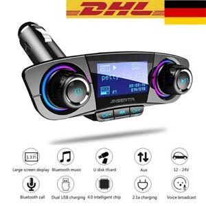 Bluetooth FM Transmitter Auto Radio Audio MP3 Player USB Ladegerät Adapter KFZ