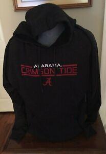 Alabama Crimson Tide Colosseum Black Heather Fleece Sweatshirt Hoodie  XL  NWT
