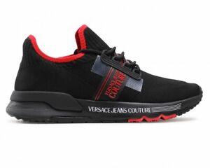 Versace Jeans Couture E0YWASA7 71930 Mdm Tricoté Homme Baskets Noir Baskets