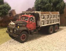 Mack B61 Tandem Dump Truck 1/64 Diecast Rusty Weathered Semi First Gear Tipper
