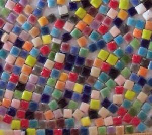 5 mm size Tiny Ceramic Assorted Mix Mosaic Tiles -- 2 oz bag - 400 ct +/- tiles