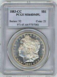 1883-CC PCGS MS-64 DMPL MORGAN SILVER $ ~ FABULOUS MIRRORED FIELDS ~ 1c START