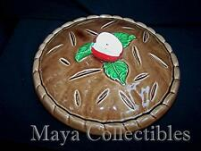 Vintage Majolica Covered Apple Pie Dish Pie Keeper Pottery Made in JAPAN 10''