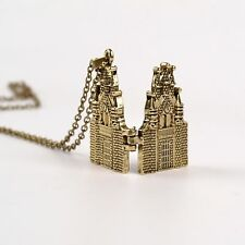 Harry potter hogwarts castle house alloy necklace