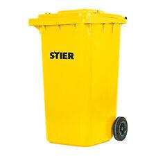 STIER 2 Rad Müllgroßbehälter 240 l gelb BxTxH 576x720x1067 mm