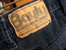 34x31 Fit True Vtg 80s Bayly Denver Colorado Navy Blue Cords Bootcut Jeans Usa
