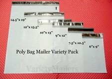 18 Poly Bag Mailer Variety Pack 6 Small To Large Sizes Plastic Shipping Bags