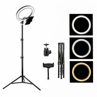 """ZOMEi 10"""" Selfie LED Ring Light with 2m Tripod&Smart Phone Holder for Video"""