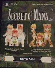 SECRET OF MANA - PS4 DLC - Costume Pack (Game Pack) - NOT FULL GAME