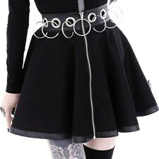 Lady Flared Mini Skater Skirt Gothic Punk Short Clubwear Black Party Fashion Hot