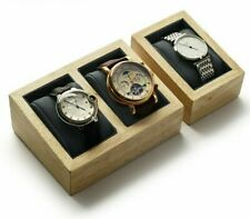Solid Wood Watch Displays Sand Props With Microfiber Internal Jewelry Organizer