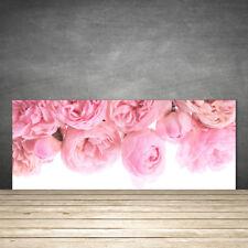 Crédence de cuisine en verre Panneau 125x50 Floral Roses