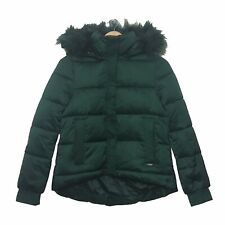 GUESS Los Angeles Puffer Parka Coat Size XS Dark Green Womens Extra Small Jacket