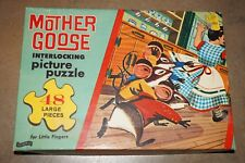 Vintage Fairchild Mother Goose Three Blind Mice 48 Piece Picture Puzzle