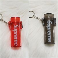 Supreme 2 Waterprooof Lighters Cases/ Keychain ( Black And Red)