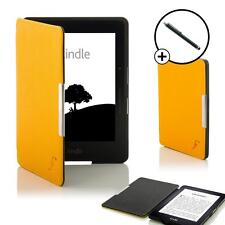 GIALLO SMART Shell Case Cover Custodia Portafoglio Amazon Kindle Viaggio & Stylus Pen