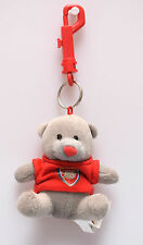 Arsenal FC Teddy Bear School Bag Buddy KeyRing Car Mirror Hanging Fluffy Soft