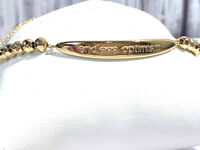 Gorjana Intentions Adjustable Gold Bracelet-Endless Optimism