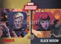 2016 Upper Deck Marvel Annual Dual Patch DCP-12 Hawkeye Black Widow SP