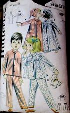 BUTTERICK SEWING PATTERN NO. 9987  CHILDREN'S SIZE 3 NIGHTWEAR VINTAGE