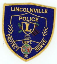LINCOLNVILLE POLICE SOUTH CAROLINA SC PATCH SHERIFF COLORFUL