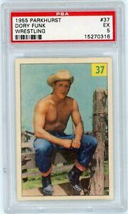 1955 Parkhurst Wrestling #37 DORY FUNK rookie Card - PSA 5