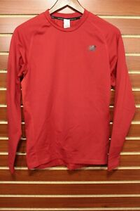 NEW Men's New Balance Long Sleeve Running Compression Shirt Vented  Red M $50