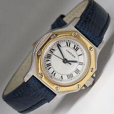 Cartier Santos Octagon Damen Automatik Uhr in Stahl/Gold