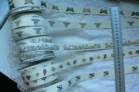 NATURE Cotton Ribbon - DARK Print 3 Mtr Length 21mmWide 5 Style Choice B1
