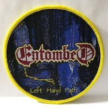 ENTOMBED LEFT HAND PATH  ROUND WOVEN PATCH