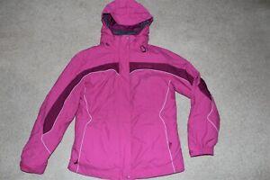 Womens Sz Medium Columbia Interchange 3in1 Ski Jacket Parka Coat Waterproof Hood