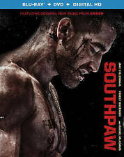 SOUTHPAW BLU-RAY + DVD + DIGITAL HD NO RESERVE,MOVIES,BOXING,SPORTS, BLUE RAY