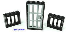 LEGO noir Prison 1x4x3 Fenêtre 2 Pièces / 1x4x6 Grille Porte 1 Pièce