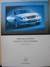 Einführungsschrift  Mercedes W 211 E Klasse Taxi + Mietwagen