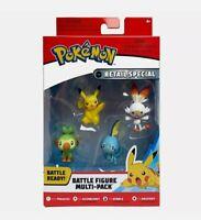 Pokemon Battle 4 Figures Multi-Pack Pikachu Scorbunny Sobble Grookey Sealed