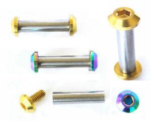 Titanium Fasteners Rear Shock Absorbers Ti Nuts Flange Bolts JP8/JXP/FA073
