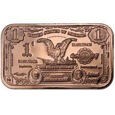 20 x 1 oz 1899 $1.00 Silver Certificate Pure Fine Copper Bars