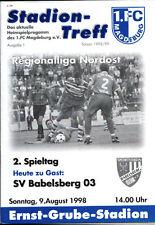 RL 1998/99 1. FC Magdeburg - SV Babelsberg 03, 09.08.1998