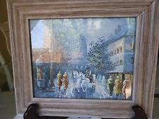 """Washington Capitol Framed Painting Signed BARDON 8""""x10"""""""