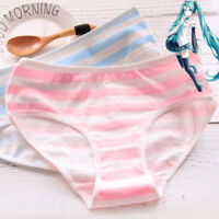 Japanese Anime Hatsune Miku Blue Pink white striped Underwear Briefs Panties New