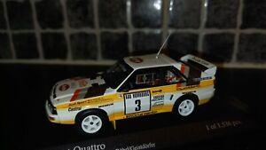 Audi Sport Quattro Walter Rohrl Monte Carlo Rally 1985 Minichamps 1/43rd WRC
