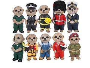 Vivid Arts Baby Meerkat Resin ornaments Professionals NHS paramedic key workers