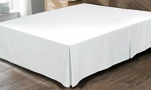 1 Qty Bed Skirt All Sizes AU Collection 100% Cotton 1000 TC White Solid